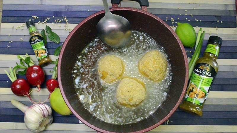 سرخ کردن آرانچینی به صورت سوخاری