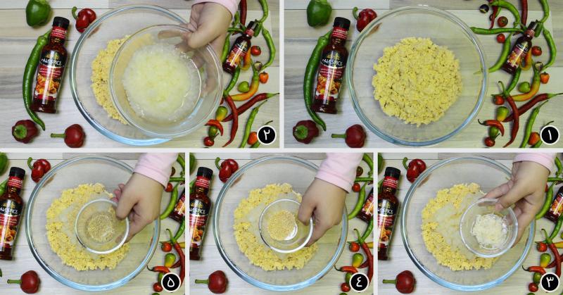 مواد اولیه: نخود، پیاز، سیر،کنجد،گشنیز